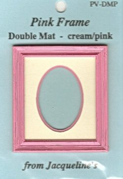 Pink Rect. frame/oval double mat