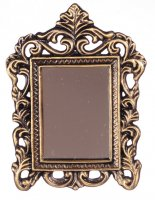 Antiqued frame mirror