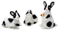 Rabbits/set of 3/ blk & w