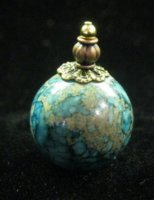 Aqua Blue Mottled Jar