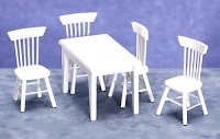 5 pc, Table and Chairs/wh