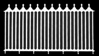 Victorian fence/ 2 pk.