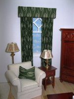 Green Swirl Drapes