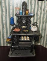 Black Cook Stove w/access.