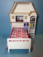 Dollhouse bed w/book case kit