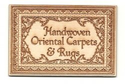 Handwoven Carpet sign