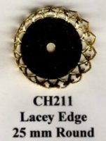 round lace edge tray