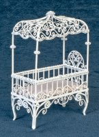 Baby Canopy crib/white wire