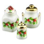 Mistletoe Cannister Set