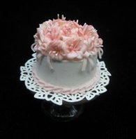 Delicate Pink Floral Cake