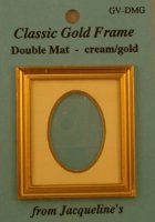 Classic Gold Frame oval dbl. mat