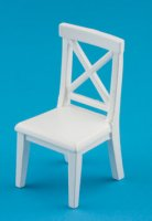 Cross buck chair/white