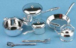 Cookware, 10pc/silver