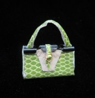Green Leather Purse/med.