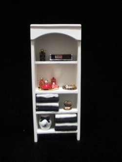 Black and white shelf