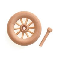 spoke wheel w/axle pin