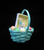 Easter basket w/lamb