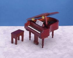 Piano w/bench/mahog