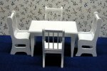 5 pc. white table/chair set
