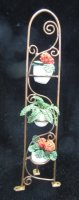 3 tier copper shelf w/plants