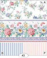Simply Rose pink/blue floral