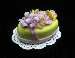 Oval Yellow Cake