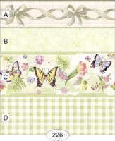 Butterflies border with check