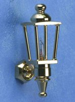 single brass carriage lamp/ replaceable bulb