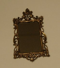 Antiqued ornate mirror