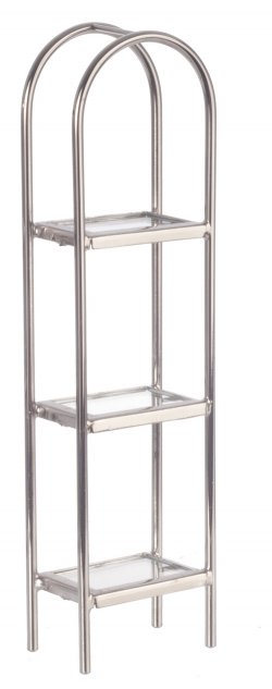 Chrome/glass/etagere