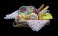 Fruit and Cheese Basket with China