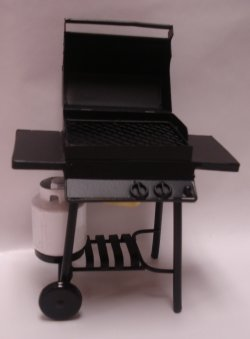 gas barbecue with tank