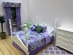 Dressed Lilac 4 poster Dbl. Bed
