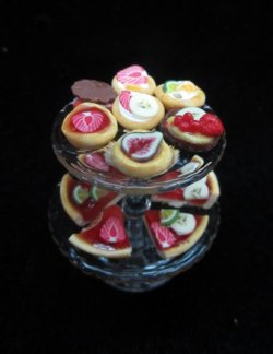 2 tier pastry tray