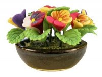 pansies in bowl