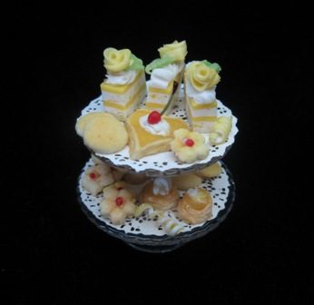 2 tiered lemon pastries - Click Image to Close