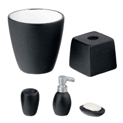 5 pc. Black Bathroom Accessories