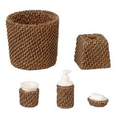 5 pc. wicker bathroom access.