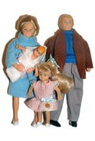 Blonde Dollhouse Family