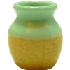 Green/Orange Ceramic Jar