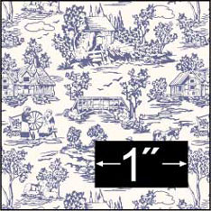 Wallpaper Campagne Toile Blue