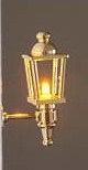 Brass LED coach lamp