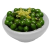 Peas in White Bowl