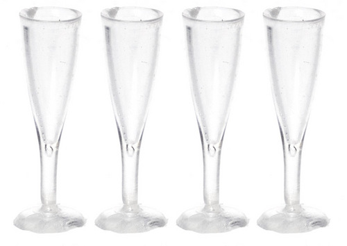 Fluted Champagne glasses/3