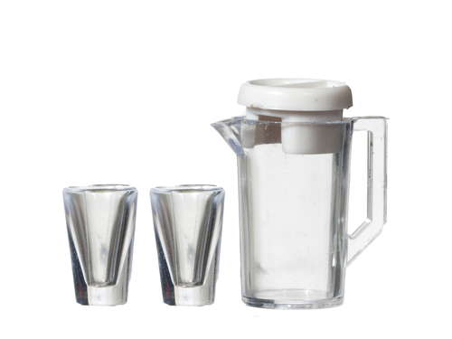 Jug w/lid/2 glasses