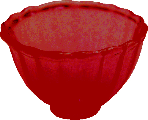 Crystal Red Glass Bowl