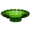 Green Glass Flared Platter