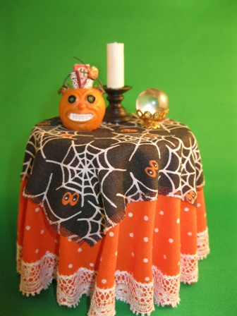 Halloween Table with crystal ball