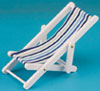 Beach Chair/blue stripe