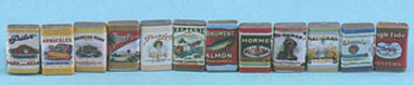 Country store grocery tins 24/pk.
